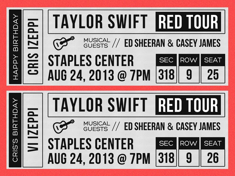 Taylor Swift Concert Tickets | Vi Izeppi - Vi Izeppi