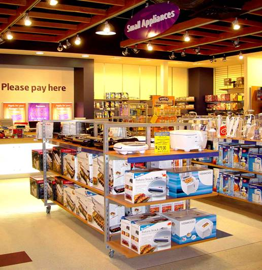 Mobile show and store shelving.