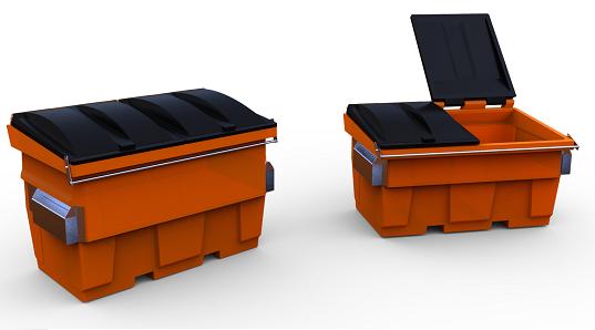 Plast-ax 1.5m3 & 2 cube front load waste bins