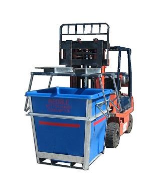 Plast-ax Forklift  bin stacker - de-nester