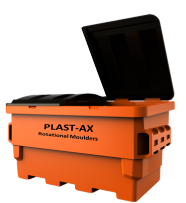 Plast-ax All Plastic Front End Load 1.5m3 for Waste & Recycling