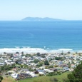 Looking out to Mayor Island from Waihi Beach