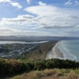 Looking down Waihi Beach from Bowentown