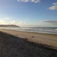 looking to the north end of Waihi Beach