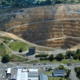 The open pit Martha Gold mine