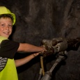 Gold Discovery centre in Waihi - have a go at drilling