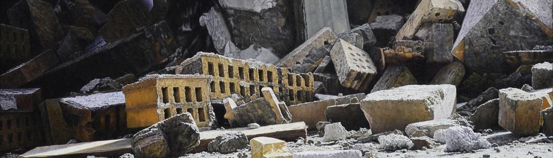 Ruine Oel auf LW 60X120cm