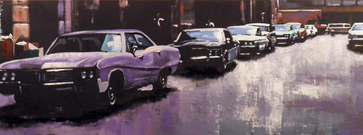 A whiff of purple 50X150cm