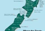 Treaty of Waitangi map