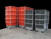 1000 +1150 Galvanised Steel Framed Plastic Liner Hide Bins