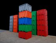 Industrial stackable box pallet bins, Plast-ax