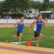 Travis Bayler took 6th placing in the Intermediate boys 400mtrs in a school record 52.55sec, NISS Athletics 17-19 April 2017.