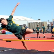 Kyle Thomas at Jnr Athletics Day Cooks Gardens, March 2016.