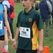 Rebecca Baker (left) had the best result for WHS coming 12th in the Junior Girls 3km run at the NZSS Cross Country Champs in Rotorua on 18-19 June 2016.