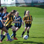 Inter-school clash with Collegiate - Girls 1st XI Football drawing 1-1, 23/8/17.
