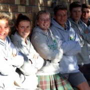 WHS hockey players Rebecca Baker (left), Emma Rainey, Joanne Bell, Jordan Cohen, Ryan Gray & Patrick Madder help the Central men & women's teams to top four at the U18 Nationals in Whangarei, Chron 13/7/17.