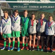 WELL DONE to the Central U18 Boys Hockey Team who won SILVER & Girls who won GOLD at the Nationals! Photo: Jordan Cohen, Patrick Madder, Ryan Gray, Emma Rainey, Joanna Bell & Rebecca Baker, July 2017.