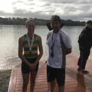 Niamh Monk won BRONZE in the U16 Girls Single at the NISS Rowing Champs at Lake Karapiro, March 2017.