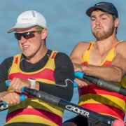 Former WHS students, Luke Watts & Hugh Pawson got SILVER in the men's senior double sculls at the NZ Rowing Champs, Feb 2017.