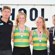 JESSICA BROUGHAM & KAYLA SPENCER - GOLD Medal winners at the Maadi Cup 2015.