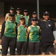 Girls Softball team at Fraser Park, Hutt Valley for the Division 2 NISS Champs, 28>31 March 2017.