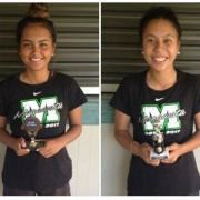 Congratulations WHS players Shanice Campbell (left) & Leighton Kotuhi-Brown representing Manawatu U17 Girls Nationals, Palmerston Nth, Jan 2017.