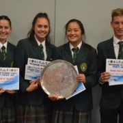 SENIOR TEAM OF THE YEAR, WSS Sports Awards 1/11/17 - WHS MIXED TOUCH TEAM; players present on the night; (left to right) Mahinarangi Millar-Potaka, Te Miringa Parkes, De-Ann Tyrell & Jordan Cohen.
