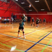 Meghan passing at the NSS Volleyball Champs, Palmerston North, 26 > 31 March 2017.