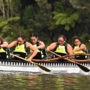 Waka Ama squad at Tikitapu, Blue Lake, Rotorua, 28 > 31 March 2017 for the NZSS Waka Ama Nationals.