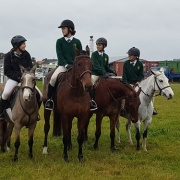 Wanganui Interschool Gymkhana, 11/5/17.  WHS WON the Red Group comp with Sophie Barron gaining most points for the day from all competitors, & Emma Forrester WON the Blue div. Red jumped 65cm & Blue jumped 80cm courses.