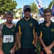 Boys competing in the NZSS Triathlon Champs held in Wanganui, 29-31 March 2017.