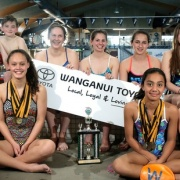 WN Reg Short Course Winter Champs - Tawa Trophy for best team stats. WHS students results: SARYA LOWER (15) bagged eight, incl two GOLD, four SILVER & a brace of BRONZE; ELENA FORLONG (17) chipped in with a SILVER & three BRONZE & AMELIA CRONIN-TOWNSEND (13) a BRONZE, Chron 17/8/16.
