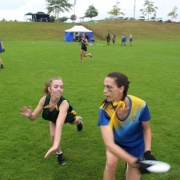 Girls playing at NZSS Ultimate Champs 27 & 28 March 2017.