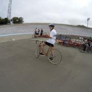 WHS student at the Wanganui velodrome.