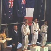 Former student FINN BROWN wins SILVER Snr men's U-73kg weight class; BRONZE Jnr men U-73kg, OJU Continental Champs in Tonga 29/30 April, RCP 4/5/17.