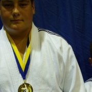 KEIGHTLEY (left) & Callaghan Watson of the Wanganui Judo Club continued their success across the Tasman with GOLD medals, Int Open Tourn in QLD, March 2016.
