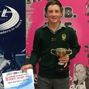 Whanganui High School's shooter, BRADLEY MCDOWELL WON JUNIOR SPORTSMAN OF THE YEAR, 26/10/16.