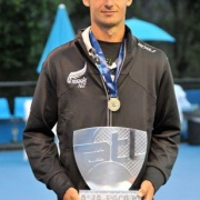 KYLE BUTTERS member of the NZ Mens Tennis team who WON the Asia-Pacific team trophy, Melbourne.