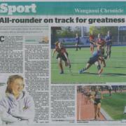 REBECCA BAKER 4th in Australian Cross Country Champs!! Wanganui Chronicle 30/8/18.