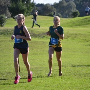 Charlotte Baker (right) finished 3rd Junior girls, WSS Cross Country 24/5/18.