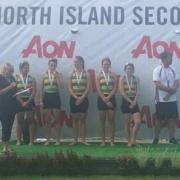 Girls U16 Squad SILVER Medal, NISS Rowing Champs at Lake Karapiro, 2-4 March 2018.