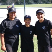 Girls Softball Team Coach Kay Kotuhi-Brown with her children Roman and Leighton who both play Softball for WHS, Summer Tournament week 19-23 March 2018.