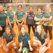 Junior A Girls Volleyball Team - 1st Whanganui schools comp at Jubilee Stadium, 4/4/18.
