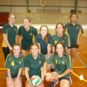 Senior A Girls Volleyball Team - 2nd Whanganui schools comp at Jubilee Stadium, 4/4/18.