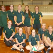 Y12 Senior Girls Social Volleyball Team - Whanganui schools comp at Jubilee Stadium, 4/4/18.