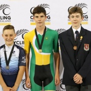 JACK OVERWEEL WON all three of his events at the NZSSs Track Cycling Champs in Cambridge; U14 515m scratch, 2000m scratch & 2500m points race, March 2018.