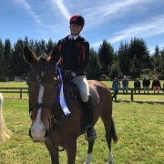 Former student Nicholas O'Leary on Helena; 3rd in his Equitation & 2nd individually Overall; NI Showhunter Team Champs in Foxton 28-30 September 2018.