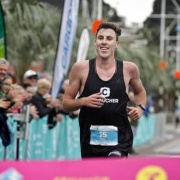 Ex WHS athlete Nick Berry crossed the marathon finish line with a smile on his face WINNING his very 1ST marathon in Tauranga, Chronicle 25/9/18.