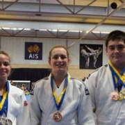 KEIGHTLEY (right) with his medals from the ACT International Judo Open in Canberra; Gold Jnr men's over 100kg division, Gold in the Cadets over 90kg & Bronze Snr Men's over 100kg, Chronicle 24/2/18.