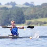 Toby Brooke (ex student) Gold K1 5000 NZ Canoe Sprint Champs at Lake Karapiro, Chronicle 1/3/18.
